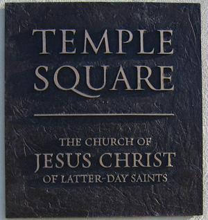 Temple Square Plaque