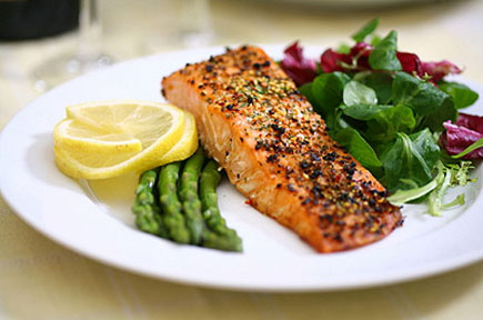 Salmon is a rich source of omega-3