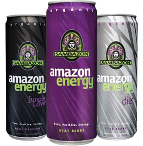 Sambazon energy drinks