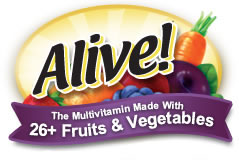 Alive! the Multivitamin made with 26+ fruits and vegetables