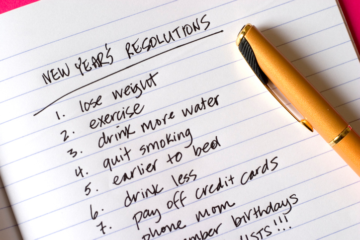 New Year's Resolutions, a long list of items!!!