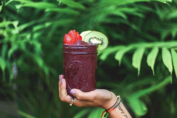 Raw smoothie drink.