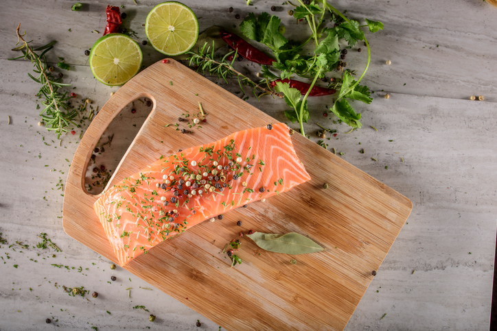 Salmon Steak with Spices